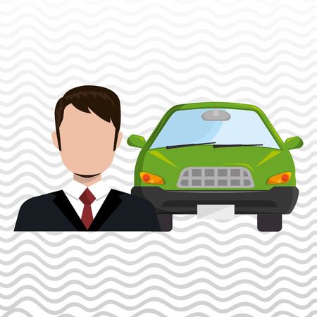 salesman: car salesman design, vector illustration