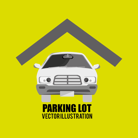 a lot: parking lot design, vector illustration Illustration