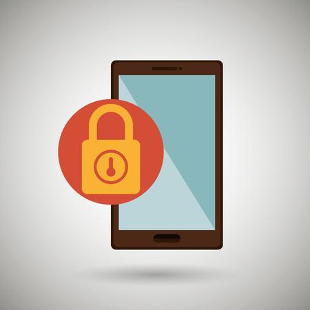 encrypt: security system design, vector illustration eps10 graphic Illustration