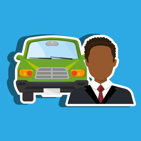 salesman: car salesman design, vector illustration eps10 graphic