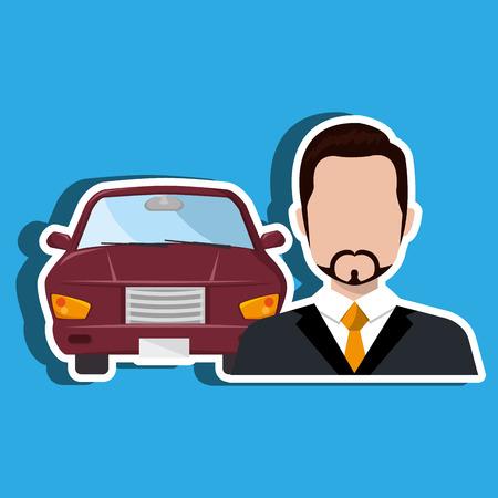 sell car: car salesman design, vector illustration eps10 graphic