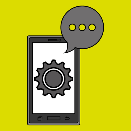 communicator: smartphone service design, vector illustration eps10 graphic Illustration
