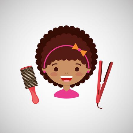 hairdressing salon: hairdressing salon design, vector illustration eps10 graphic