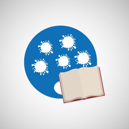 pallette: Education Concept design, vecteur illustration graphique eps10 Illustration