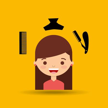 hairdressing salon: hairdressing salon design, vector illustration