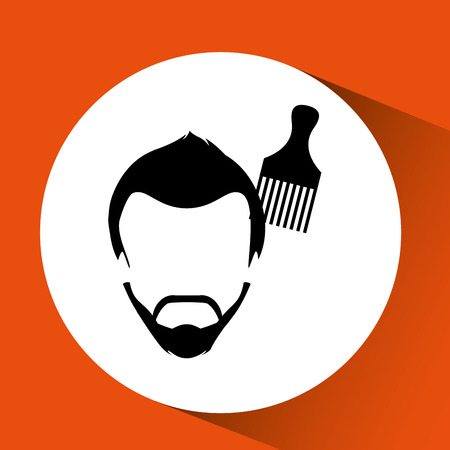 barber shop: barber shop design, vector illustration