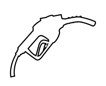 refuel: gasoline dispensing gun isolated icon design, vector illustration  graphic Illustration