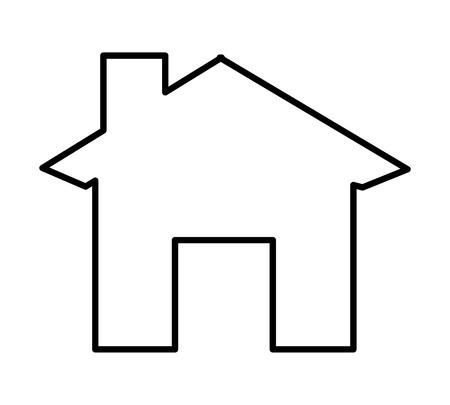 Silhouette de la maison conception d'icônes isolées, illustration graphique vectorielle