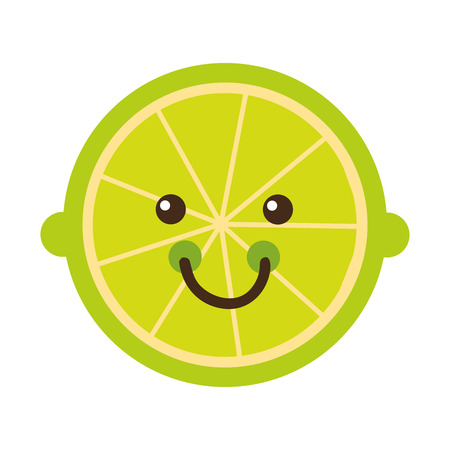 citric: citrus fruit character isolated icon design, vector illustration  graphic Illustration
