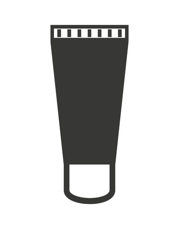 aftershave: makeup cream bottle isolated icon design, vector illustration  graphic