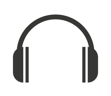 casque icône isolé design, vecteur illustration graphique