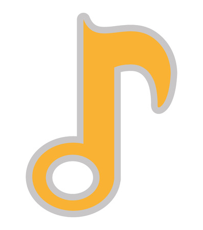 single songs: music note isolated icon design, vector illustration  graphic Illustration
