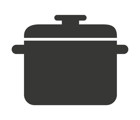 stainless steel pot: kitchen pot isolated icon design, vector illustration  graphic