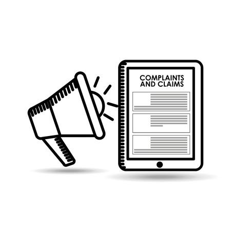 klachten en claims ontwerp, vector illustratie eps10 grafische