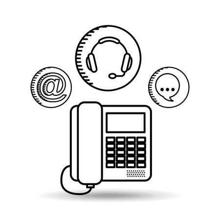agents: customer service design, vector illustration eps10 graphic Illustration