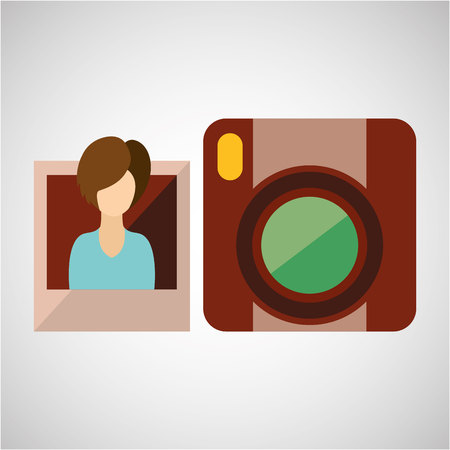 photographic camera: photographic camera design, vector illustration eps10 graphic