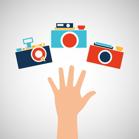 artistic photography: photographic camera design, vector illustration eps10 graphic