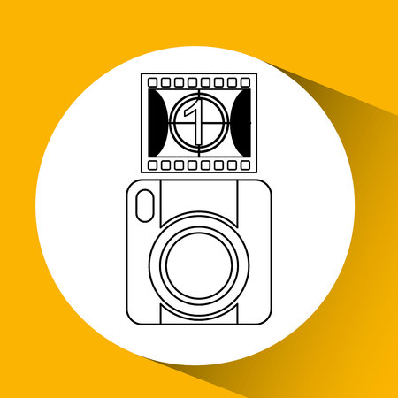 photographic: photographic camera design, vector illustration eps10 graphic