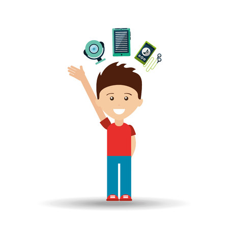 electronic devices: electronic devices design, vector illustration eps10 graphic Illustration