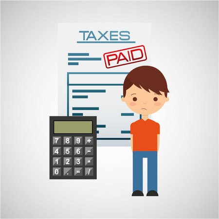fiscal: tax time design, vector illustration  graphic Illustration