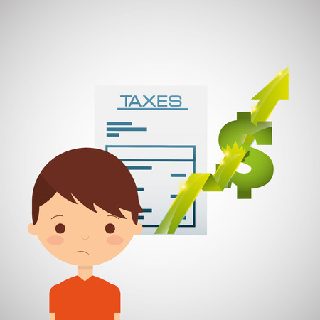 fiscal: tax time design, vector illustration graphic