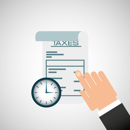 irs: tax time design, vector illustration graphic