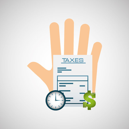 tax accountant: tax time design, vector illustration graphic