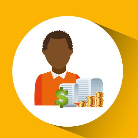 ingresos: diseño de concepto de dinero, ilustración vectorial gráfico eps10