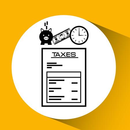 deduction: tax time design, vector illustration eps10 graphic Illustration