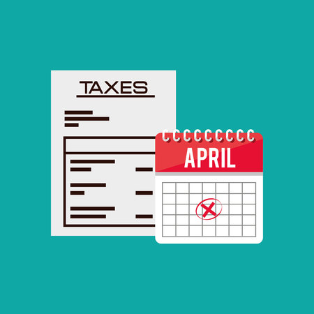 accountants: tax time design, vector illustration eps10 graphic Illustration