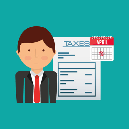 fiscal: tax time design, vector illustration eps10 graphic Illustration