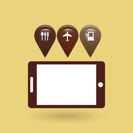 gps device: gps service design, vector illustration eps10 graphic