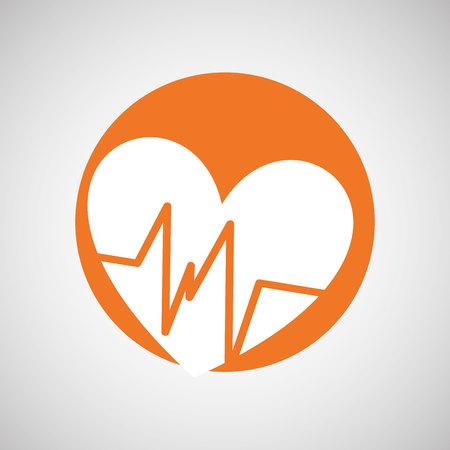 medical heart: medical healthcare design, vector illustration eps10 graphic
