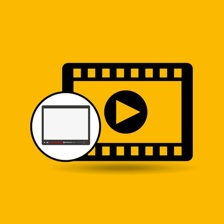 window bars: video player template design, vector illustration eps10 graphic
