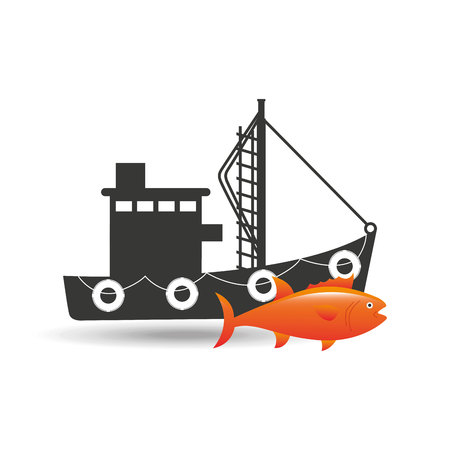 fisher: fishing concept design, vector illustration eps10 graphic