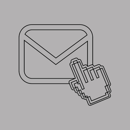 configure: email settings design, vector illustration eps10 graphic