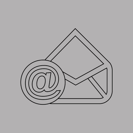 arroba: email settings design, vector illustration eps10 graphic