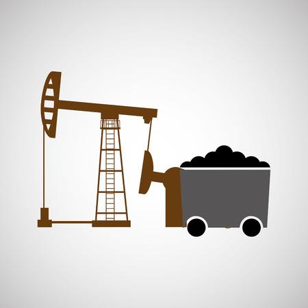 coal mining: coal mining industry design, vector illustration eps10 graphic Illustration
