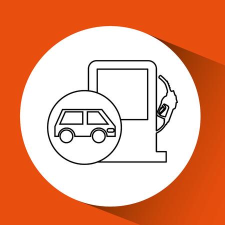 refuel: gas station design, vector illustration eps10 graphic