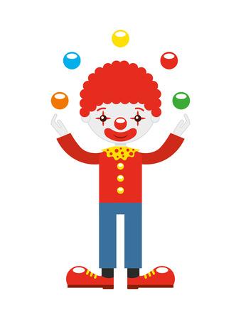 juggler: juggler clown with balls  isolated icon design, vector illustration  graphic Illustration