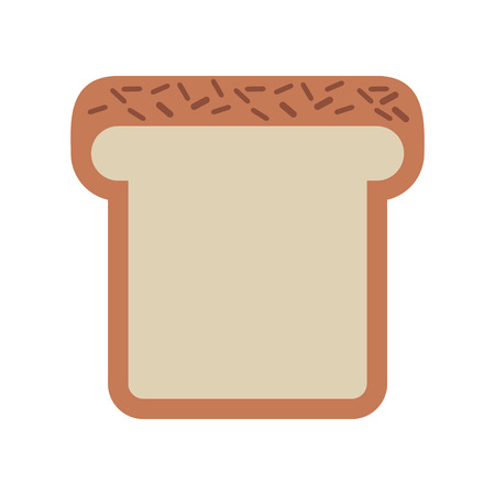 loaf: bread loaf isolated icon design, vector illustration  graphic