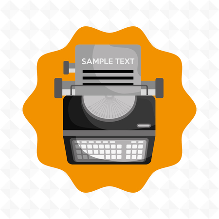 typewriting machine: type writer  design, vector illustration eps10 graphic Illustration