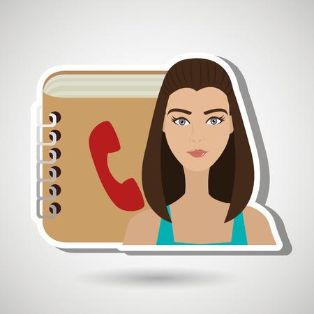 phonebook: user phonebook design, vector illustration eps10 graphic Illustration