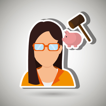 incomes: person and money concept design, vector illustration eps10 graphic Illustration