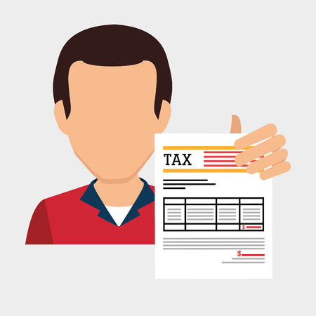 debtor: tax debtor design, vector illustration eps10 graphic