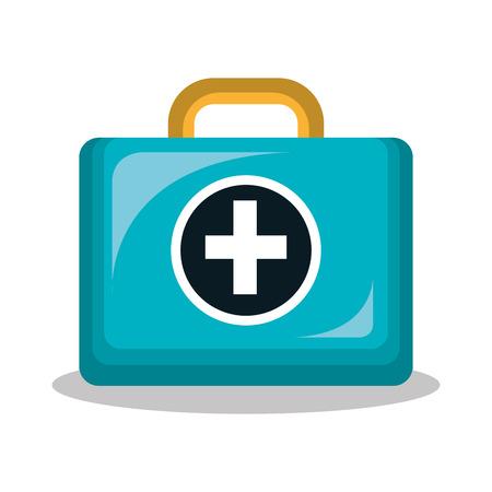kit medico isolato icona del design, illustrazione grafica vettoriale Vettoriali