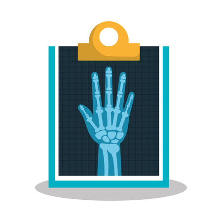 radiography: hand radiography isolated icon design, vector illustration  graphic