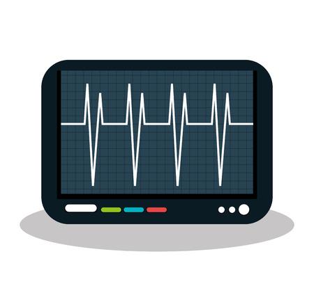 heart monitor: eco heart monitor isolated icon design, vector illustration graphic Illustration