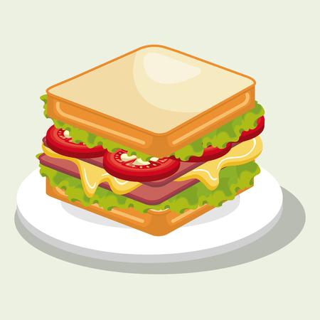 sandwish: delicious sandwish isolated icon design, vector illustration  graphic