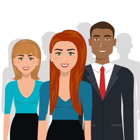 people  male: elegant businesspeople  isolated icon design, vector illustration  graphic Illustration